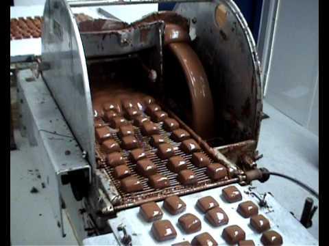Enrobing Chocolates - www.davenportschocolates.co.uk
