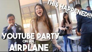 Filipino Youtubers Party On The Plane ft Janina Vela Alodia Donnalyn Bartolome