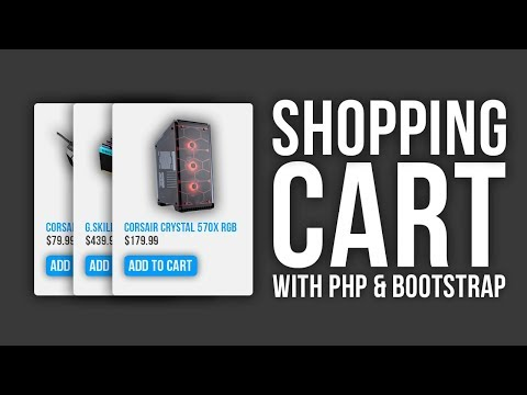 Responsive PHP Shopping Cart with Bootstrap