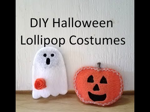 DIY Lollipop Halloween Costumes With Optional Display