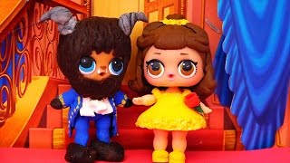 Kids Toys L.O.L. Surprise Dolls Turn Into Beauty and the Beast! DIY & Full Set for Series 1