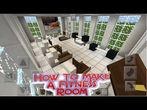 Minecraft PE : How To Make A Fitness Room  (GYM)