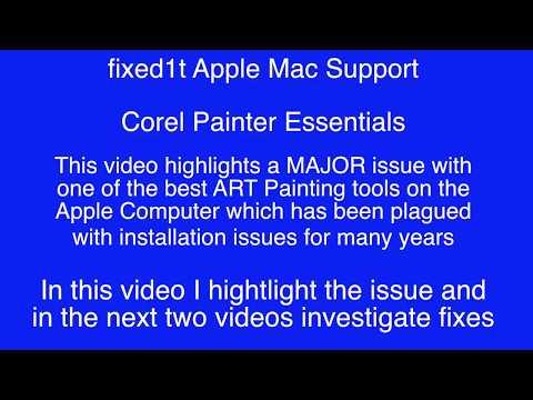 Corel Painter Essentials 5 For Apple Crashing On Startup - Part 1