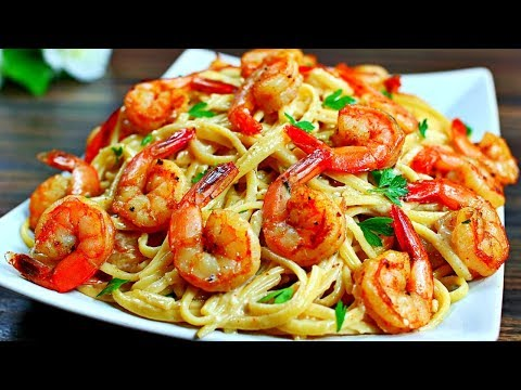 Cajun Shrimp Alfredo Pasta Recipe - Easy Delicious Shrimp Alfredo Pasta