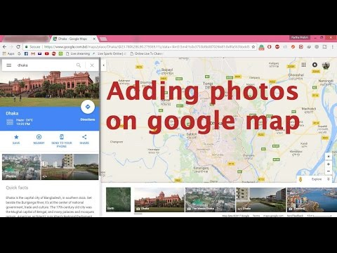 How to add photos on google map