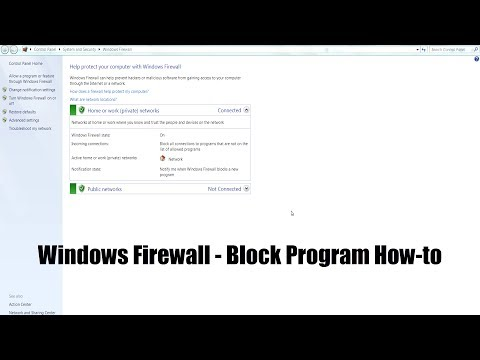 Use the windows firewall to block internet access of an application