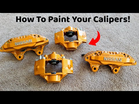 How To Paint Your Brake Calipers! Nissan 300zx Big Brakes Get Paint & They Look Awesome!