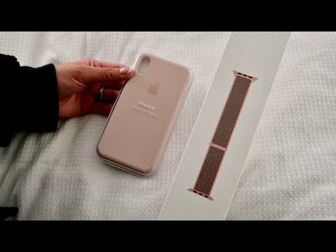 New Apple Watch Sport Loop & iPhone X Silicone Case Unboxing