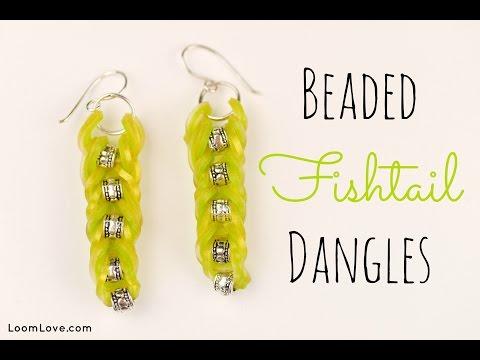 How to Make Beaded Fishtail Dangles