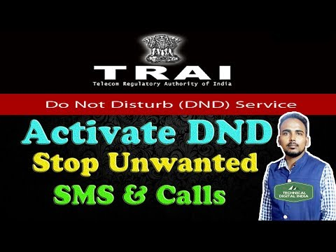 Activate DND | STOP or BLOCK Unwanted Promotional SMS & Calls | Do Not Disturb Service