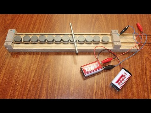 Simple Linear Motor - How to make a simple linear motor