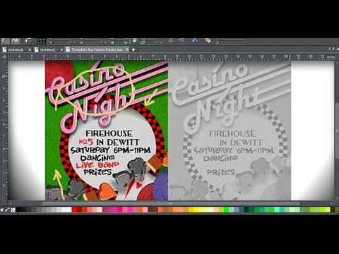Creating a Casino Poster Part 1 - Feb 2015  XaraXone.com