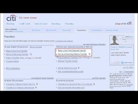 Citi QuickTake Demo: How to Make an Inter Institution Transfer using Citibank Online