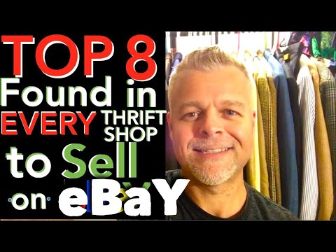 What to Sell on eBay from Thrift Stores & Garage Sales. 8 TOP SELLING ITEMS to Re-Sell for Profit