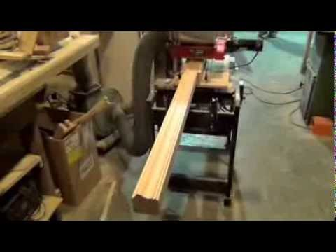 DIY Cherry Handrail on a Williams & Hussey Molder