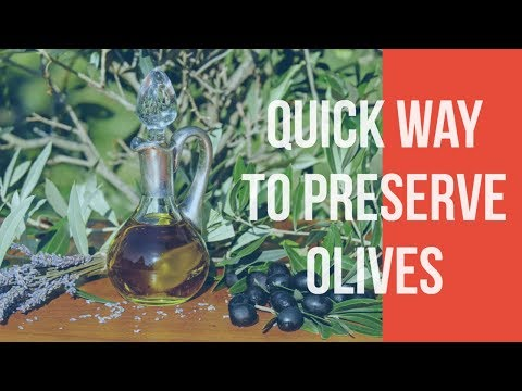 how to preserve olives at home