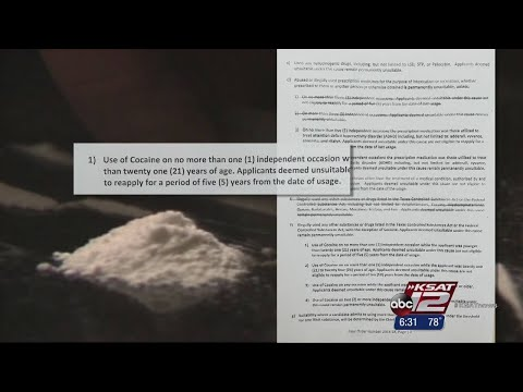 SAPD applicants no longer excluded for previous cocaine use