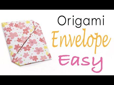 Easy☺︎Origami Paper Simple Envelope - Origami Kawaii〔#025〕