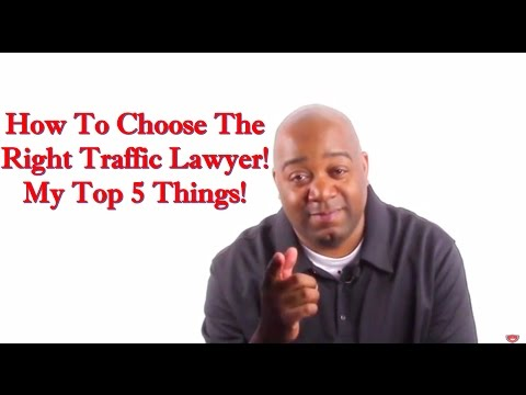 How To Hire A Traffic TICKET Lawyer