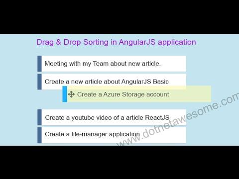 Reordering list via drag & drop  in AngularJS application
