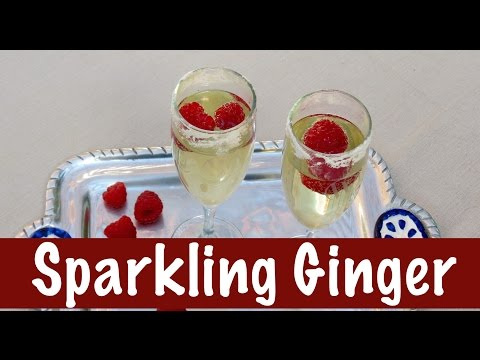 Cocktail Recipe | Sparkling Ginger| The Frugal Chef