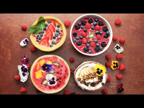4 Beautiful Smoothie Bowls