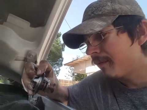 How to change a thermostat on a 2003 chevy Malibu 3.1 v6
