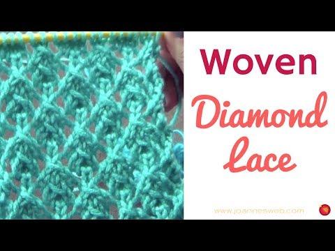 Woven Lace Diamonds Knitting Pattern - Knitting Lace Rhombus Patterns