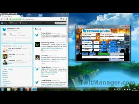 TwitManager - Edit Your Twitter Stats