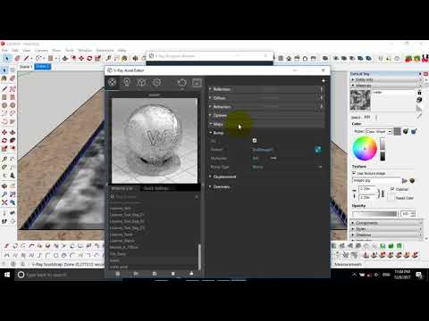 how to create realistic water by sketchup and vray 3.4