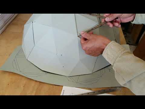 Como construir un V3 Geodesic Dome con formula #1...How to make a V3 Geodesic Dome with a Formula #1
