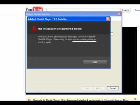 Install Flash Player (No Admin)