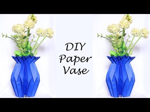 How to Make a Paper Flower Vase | Easy Paper Craft Ideas