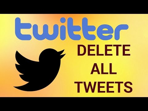 How to Delete All Tweets at Once