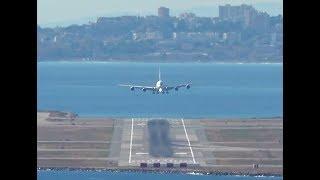 Airbus A380 landing at Nice Côte d
