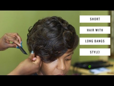 HOW TO STYLE YOUR SHORT HAIR WITH BANGS! | THEHAIRAZORTV
