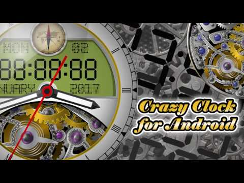 Crazy Clock for Android 2017 along with Digital Clock and Analog Clock style