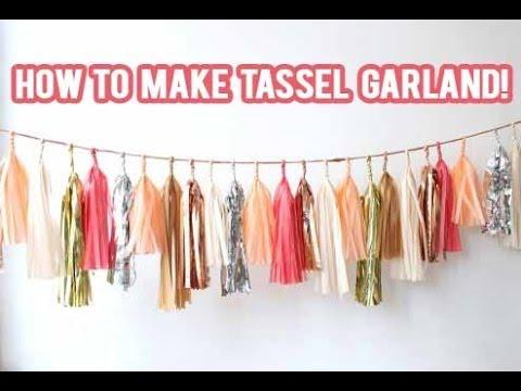DIY How to make a Tassel Garland Banner! | NicoleMatthews |