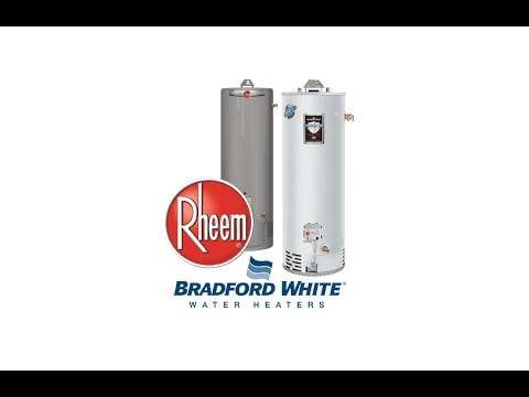 Best Residential Water Heater (Rheem VS Bradford)