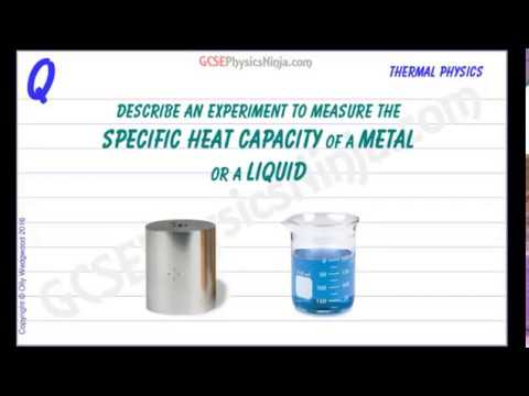 Specific Heat Capacity Experiment - Thermal Physics Tutorial