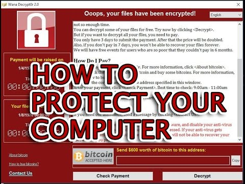 How to secure computer from Wanna Cry, Wanna Crypt, WanaCrypt0r 2.0, Wanna Decryptor ransomware