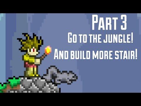Terraria part 3- KhmerDVVJ -Build the second stair!