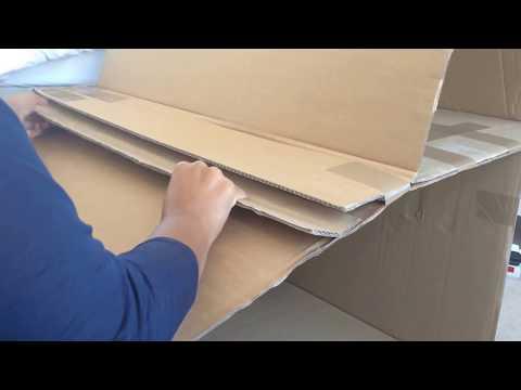 DIY: modern doll house (recycled cardboard box) & diy furniture