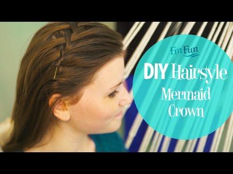 Easy Mermaid Hairstyle   Crown Braid   Fin Fun Mermaid Tails