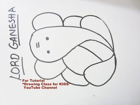 How to Draw- Easy Lord Ganesha Ganpati Step by Step Tutorial for Kids