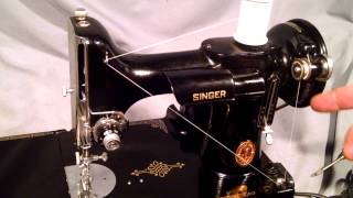 How To Wind Bobbin And Thread Bobbin Case For Vintage Singer Featherw