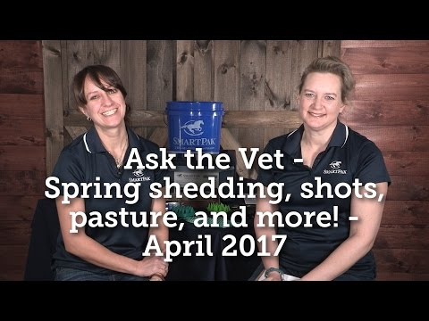 Ask the Vet - Spring shedding, shots, pasture, and more! - April 2017