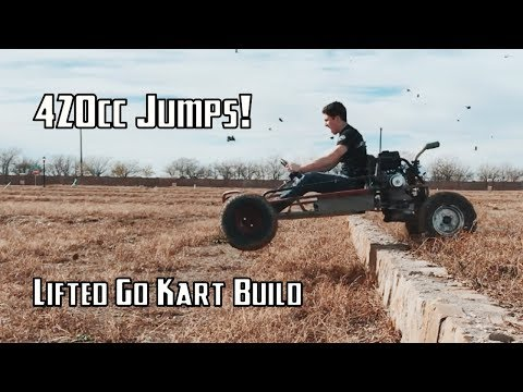$50 Offroad Go Kart Gets a 420cc Engine and Drives! | Offroad Go Kart Build Part 2