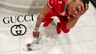 I DESTROYED MY BROTHERS GUCCI FLOPS!!!  *EXTREME*