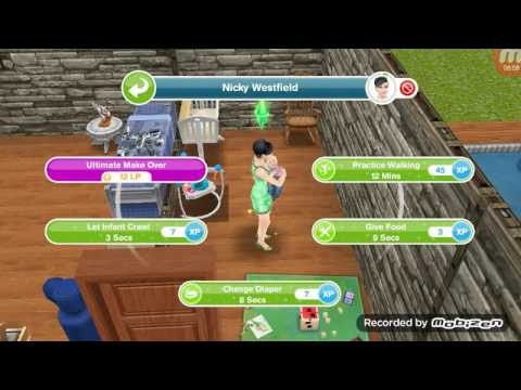 Sims freeplay Part 4 -  Aging the baby's to toddlers